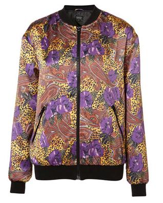 TopShop Leopard Floral Bomber Jacket 48
