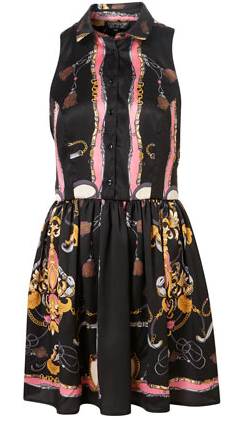 TopShop Scarf Print Shirt Dress 50