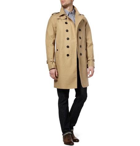 Burberry Prorsum Cotton Gabardine Trench Coat 1595 2