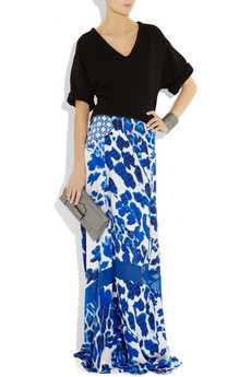 Just Cavalli Printed silk satin maxi skirt 430 2
