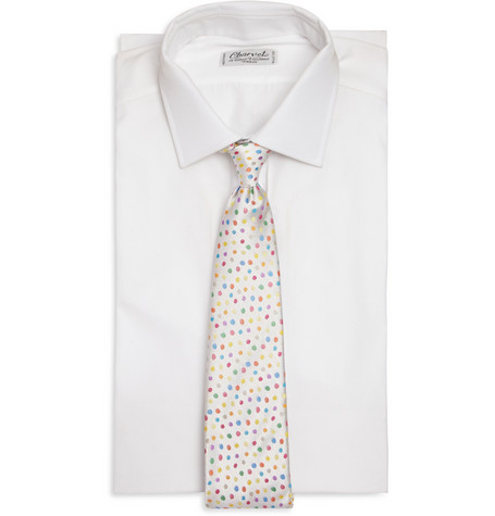 Richard James Spotted Silk Satin Tie 75 2