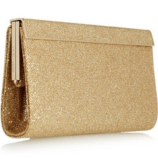 Jimmy Choo Cayla glitter finish clutch 595