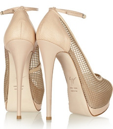Giuseppe Zanotti Mesh and lizard effect leather sandals 465 2
