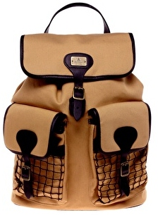 Barbour caramel canvas beacon backpack 159