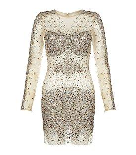 Jovani Sheer Crystal Dress 1099