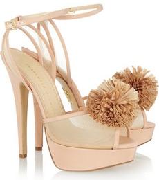 Charlotte Olympia Pomeline crepe de chine sandals 745