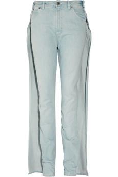 Margiela Overlay high-rise wide-leg jeans 420