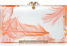 Charlotte Olympia Pandora feather Perspex box clutch 525