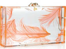 Charlotte Olympia Pandora feather Perspex box clutch 525 2