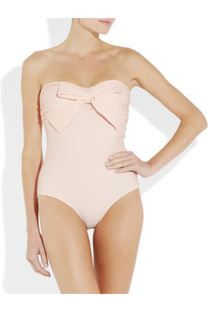 Miu Miu Bow Embellished Bandeau Swimsuit £145 2