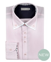 Laura Ashely Pink White Fine Stripe Double Collar Shirt £70