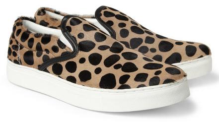 Undercover Leopard Print Ponyskin Slip On Sneakers $415