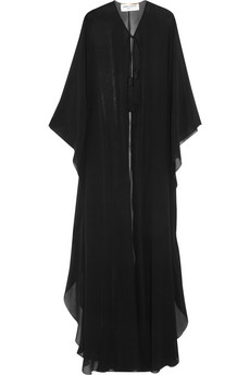 Saint Laurent Silk Chiffon Cape £1,715
