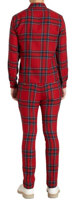 Duckie Brown Slim Straight Tartan Check Trousers $575